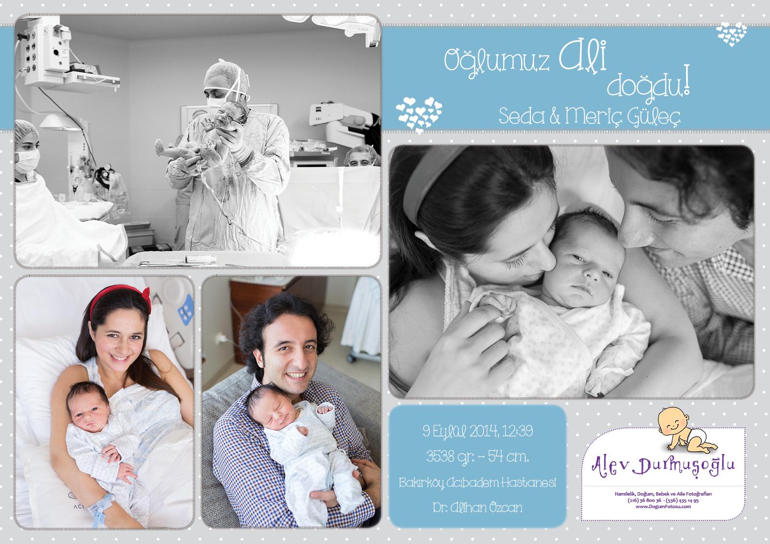 Ali'nin Doğum Fotoğrafları