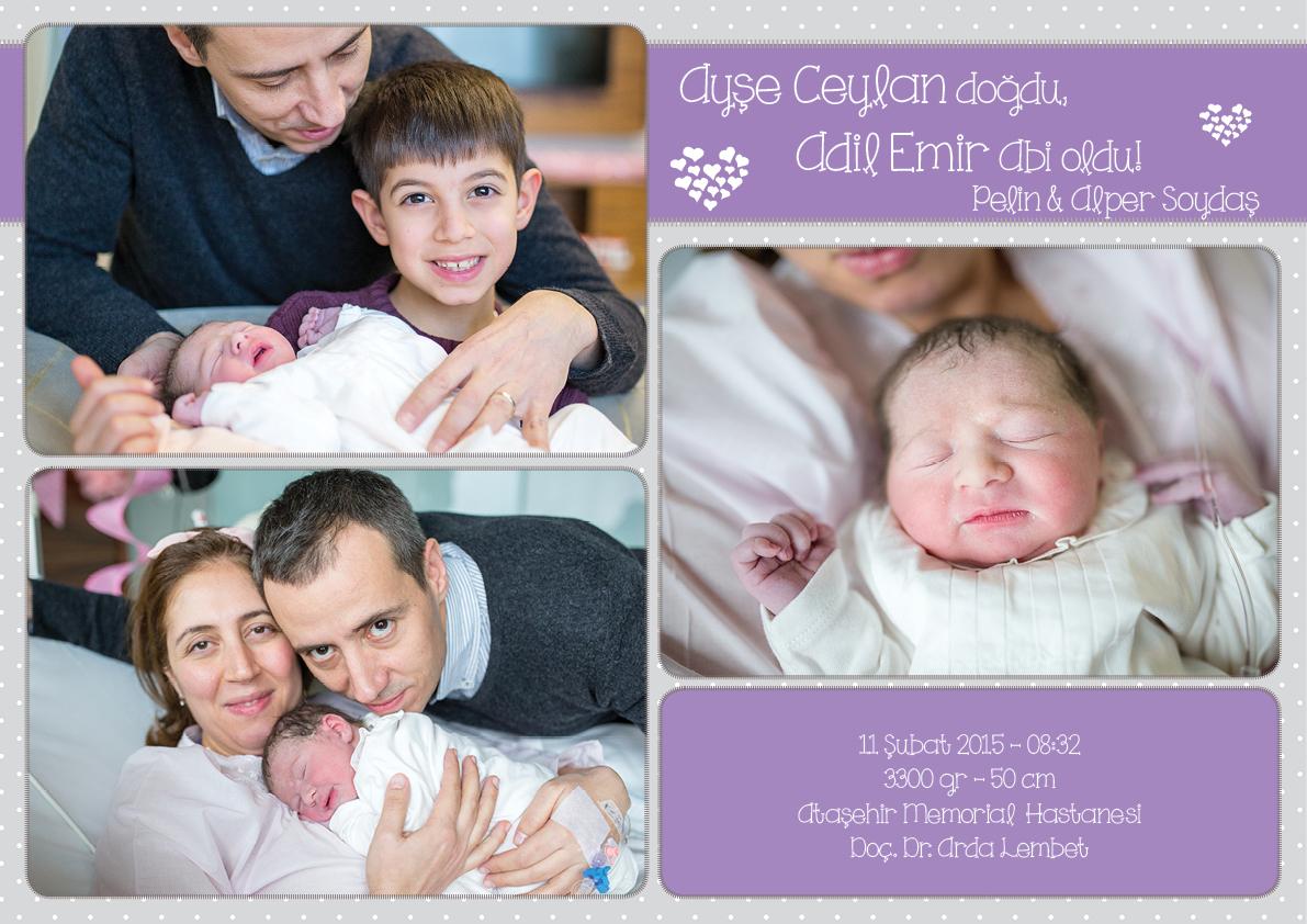 Ayşe Ceylan'ın Doğum Fotoğrafları